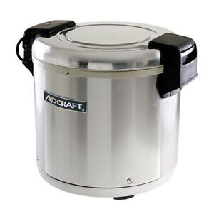Adcraft Rw e50 50 Cup Electric Rice Warmer W Nonstick Inner Pot