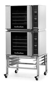 Moffat E31d4 2c Electric Double Convection Oven Half Size 4 Pan Mobile Stand