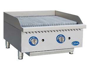 Globe Gcb24g cr 24 Counter top Natural Gas Char broiler Cast Iron Radiant