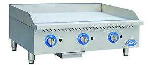 Globe Gg48g 48 Natural Gas Griddle Manual Controls Counter Top