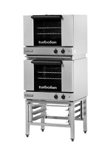 Moffat E22m3 2 Electric Dble Stack Convection Oven 3 Half Size Pan W Stand