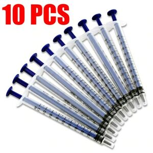 10x 1ml Disposable Plastic Nutrient Syringe Injector Liquid Chemistry Lab Tool