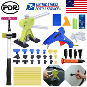 Pdr Tools Dent Lifter Set Paintless Hail Repair Car Damage Tap Down Kit Glue Gun