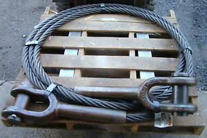 Schramm Drilling Rig Cable Assembly 1 75 X 448 Clevis Both Ends