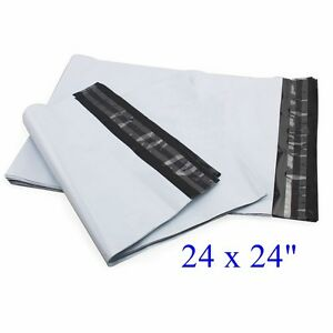 24 X 24 Poly Mailers Envelopes Plastic Mailing Bags 50 100 300 500 1000 2 2mil