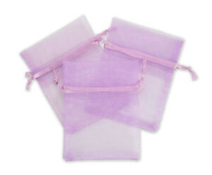 Jewelry Lavender Organza Bag Pouches Retail Display Store Fixture Lot Of 500 New