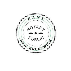 New Imprue Round Self inking Notary Seal Rubber Stamp New Brunswick Ideal 400r