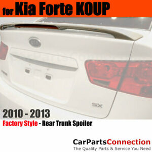 Painted Abs Rear Trunk Spoiler For 10 13 Kia Forte Koup 3d Bright Silver