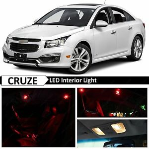 12x Red Led Lights Interior Package Kit For 2011 2017 Chevy Cruze