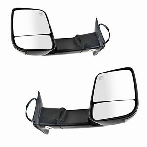 For 09 12 Dodge Ram 1500 10 12 Ram 2500 3500 Towing Power Heated Puddle Mirrors
