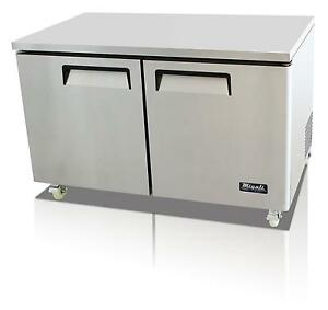 Migali C u60f hc 17 9 Cu ft Ss Under counter Freezer Two Solid Doors