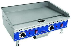 Globe Pg24e 24 Counter top Electric Flat Griddle Light Duty Stainless