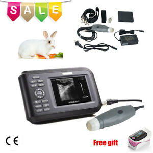 Medical Handheld Ultrasound Scanner Portable Machine Veterinary Vet W Case Ce