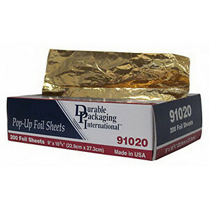 Interfold Aluminum Foil Sheet Gold 1 75 L X 9 W 200 pack