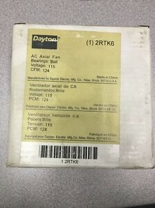 New Dayton Axial Fan 2rtk6 115 Volts 124 Cfm Free Shipping