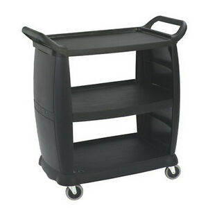 Carlisle Bus Cart Black 300 Lb 36 W X 38 H X 18 D