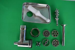 Stainless Steel Meat Grinder For Kitchenaid Professional Mixer Sausage Stuffer