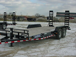 New Load Trail 20 14 000 G v w Equipment Flatbed Trailer Bench Mark Of Quality