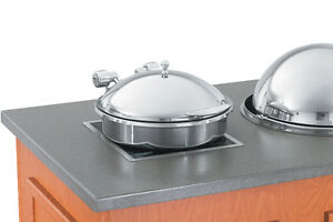 Vollrath 46122 6qt Solid Top Induction Chafer W S s Trim Porcelain Pan