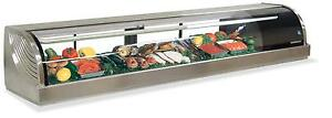 Hoshizaki Hnc 210ba 82 Refrigerated Sushi Glass Case Stainless Counter Top