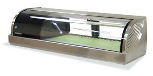 Hoshizaki Hnc 120ba Refrigerated Sushi Display Case 47 Counter Top Stainless