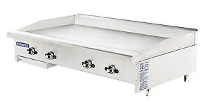 Radiance Tatg 48 48 Thermostatic Gas Griddle Stainless With 4 Burners