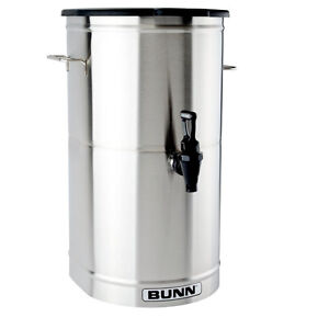 Bunn 34100 0002 Iced Tea coffee Dispenser 4 Gallon Urn W Brew through Lid