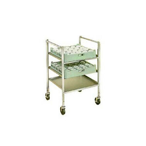 Lakeside 197 Stainless Steel Glass Cup Rack Transport Cart