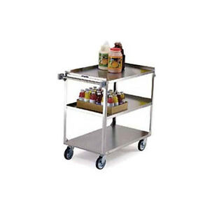 Lakeside 459 22 3 8 wx54 1 8 dx37 1 4 h Stainless Steel Utility Cart