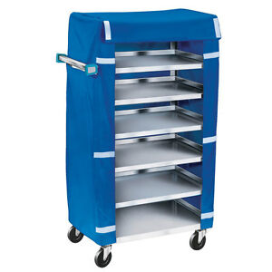 Lakeside 438 18 3 8 wx30 3 4 lx46 h Stainless Steel Tray Delivery Cart
