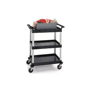 Lakeside 2500 31 3 4 wx17 1 2 dx38 1 4 h 3 Tier Bus Cart Black