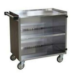 Lakeside 644 22 1 2 x39 1 4 x37 3 8 Stainless Steel Bussing Cart