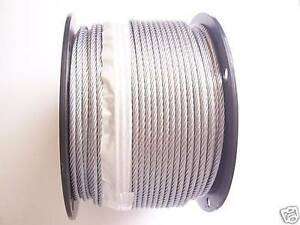 Galvanized Wire Rope Cable 3 16 7x19 50 100 200 250 300 500 750 1000 Ft
