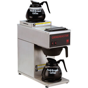 Gmcw Cpo 2p 15a Single Portable S s Coffee Brewer W 2 Warmers top