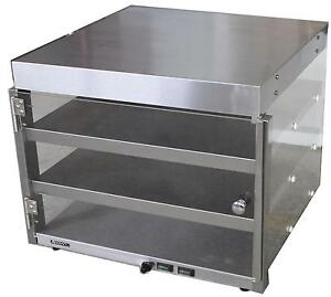 Adcraft Pw 16 Commercial Countertop Heated Shelf 16 Pizza Merchandiser
