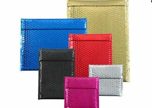 Metallic Colored Bubble Mailers All Colors Sizes Inside Dimension Listed