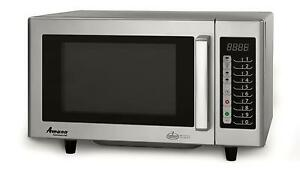 Amana Rms10ts 1000w Commercial Microwave Oven S s Interior Low Volume