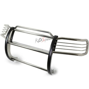 Chrome Stainless Steel Brush Grille Guard Frame For 06 10 Jeep Commander Xk Suv