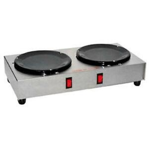 Gmcw Bw 2 Dual Side by side Burner Countertop Coffee Warmer Plate