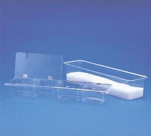 Spill stop 151 04 Bar Condiment Caddy Four Compartment Clear Acrylic