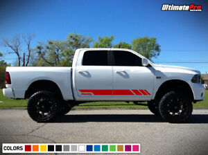 Side Stripe Decal Graphic Sticker Kit For Dodge Ram 1500 2500 Grill Lamp Molding