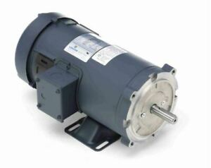 1 Hp 2500 Rpm 180 Volts Dc 56c Frame Tefc Leeson Electric Motor 108021