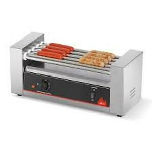 Vollrath 40822 Cayenne 9 Roller Hot Dog Grill Holds 24 Hot Dogs