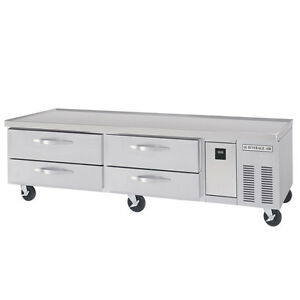 Beverage air 76in Four Drawer Refrigerated Chef Base Equipment Stand