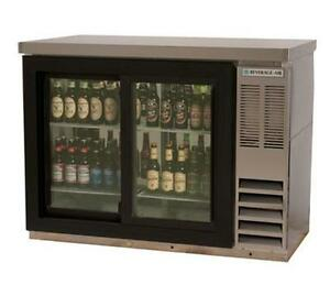 Beverage air Bb48hc 1 g s 48 2 section S s Sliding Glass Door Back Bar Cooler