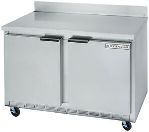 Beverage air Wtr36ahc 8 5 Cuft 36 Wide Two Section Work top Refrigerator
