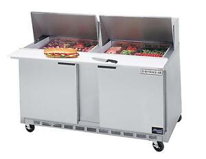 Beverage air 17 1 Cuft Two Section Sandwich Top Refrigerated Prep Table