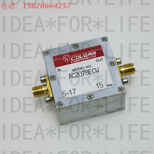 Used Good Cougar Ac2078ecw 10mhz 1 8ghz 10db 15v Rf Sma Amplifier