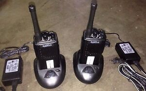 2 Tested Radios Relm Rpu416a 470 490 Mhz Charger Battery Antenna Everything