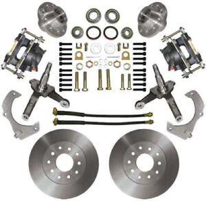 74 78 Mustang Ii Mbm Front 11 Disc Brake Kit W Stock Height Spindles